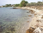 The beach is next to the villa Dionysus in Gradina on the island of Korčula