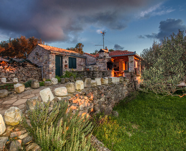 Colours of sunset - Dalamatian stone house on Korcula Island
