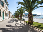Promenade with palm trees - villa Sunset bay, Korcula Island