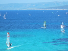 Windsurfing is just one of the many fun things to do in Bol.