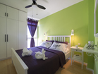 Modern equipped bedroom with double bed - 2-bedroom apartment Summer Adventure, Sibenik